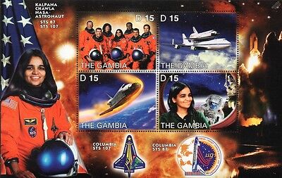 Kalpana Chawla: NASA STS-107 Space Shuttle COLUMBIA Astronaut Stamp Sheet