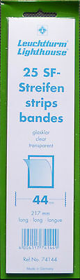 LIGHTHOUSE STAMP MOUNTS CLEAR Pack 25 Strips 217mm x 44mm - Ref. No. 74144