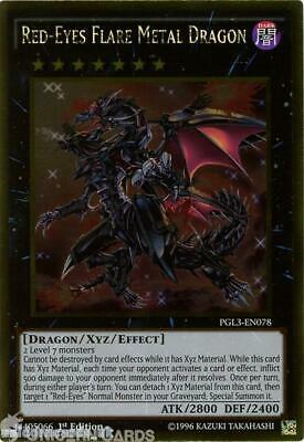 PGL3-EN078 Red-Eyes Flare Metal Dragon Gold Rare 1st edition Mint YuGiOh Card