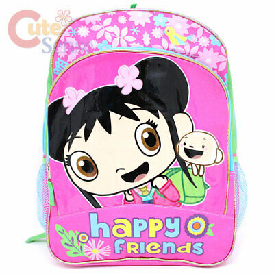 """Ni Hao Large Shcool Backpack 16"""" Girls Book Bag Happy Friends with HoHo"""