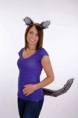 Wolf Ears And Tail Set Grey Big Bad Wolf Werewolf Wolfman Costume Ears Tail Kit