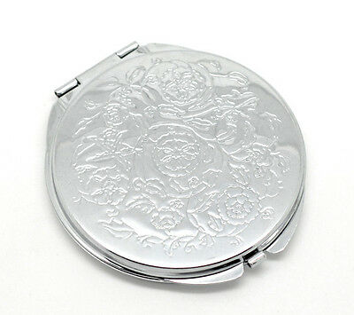 ILJ Portable Pocket Mirror Compact Double Side Makeup Cosmetic Round