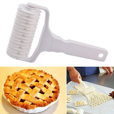 Big Kitchen Bakery Tool Bread Cookie Pie Pastry Lattice Roller Cutter Plastic