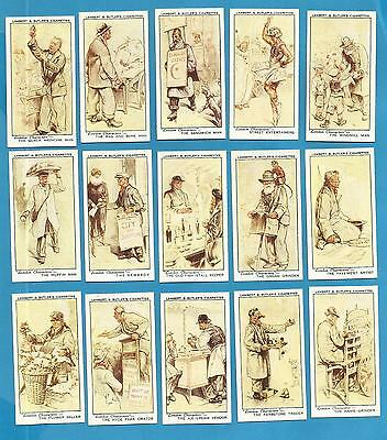 Lambert & Butler cigarette cards - LONDON CHARACTERS - 1934 Full set.