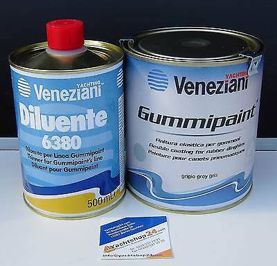 Veneziani Gummipaint Rubber Paint 750ml + Special Dilution 0,5 L in Handy Set