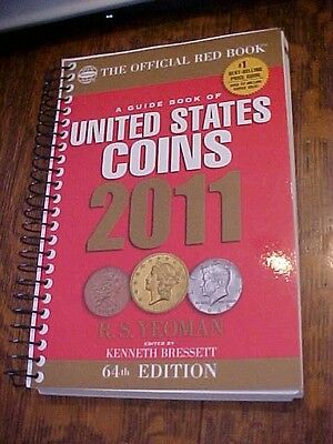 2011 GUIDE BOOK of UNITED STATES COINS by Yeoman, 64th EDITION; RED SPIRAL COVER