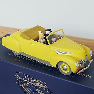 Tintin and Snowy HADDOCK FORD LINCOLN ZEPHYR 1/14 RESIN original box new