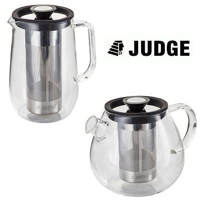 Judge Brew Control Infusing Glass Teapot or Cafetiere