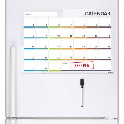 Calender Fridge Board Magnetic Pen Notice Memo Planner Whiteboard