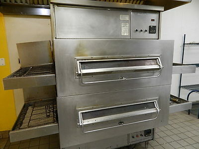 Middleby Marshall Ps 360Q's Double Stack Natural Gas Conveyor Pizza Ovens