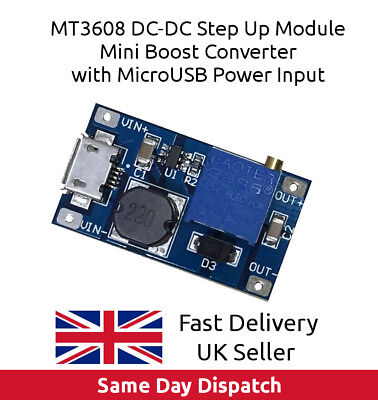 MT3608 DC-DC Voltage Step Up Adjustable Boost Converter Module 2A USB in UK FAST