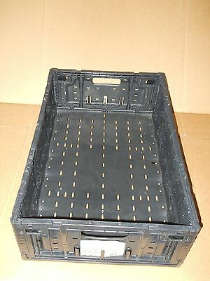 Plastic Stacking Crates Lugs Bins Baskets Folding Collapsible 6416, 7""