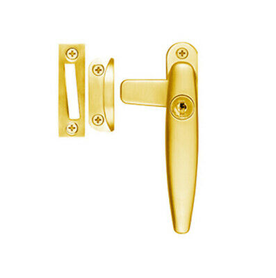 Delf Window Lock JQ001RHPB Lockable Casement Fastener Right Hand Polished Brass