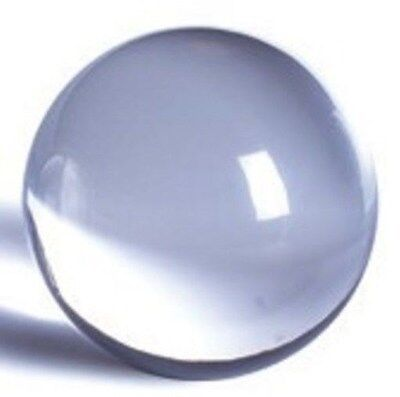 "Acrylic Ball 8"" Clear Solid ( Not Hollow ) Lucite Perspex Plexiglas 16602-4"
