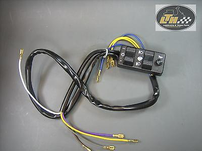 Light switch 9 Cable 12V with indicator without battery Vespa PX