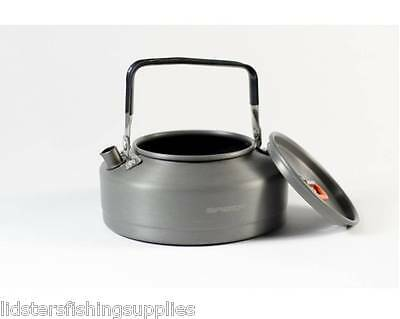 Saber Carp Fishing Camping Kettle 0.9 Litre Gun Metal Aluminium Kettle VIDEO