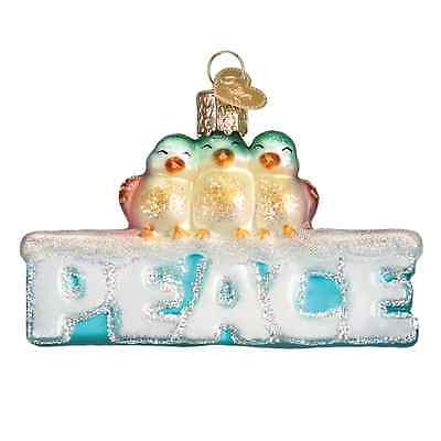 """Peace"" (36178)X Old World Christmas Glass Ornament"