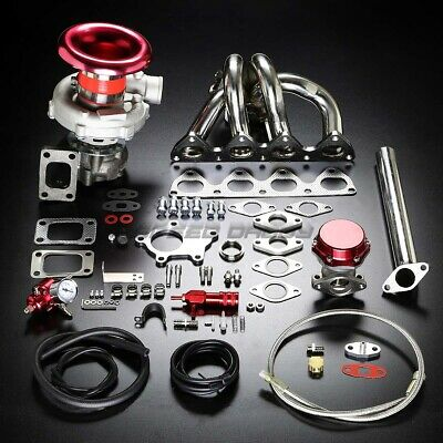 H22 T04E Stage Ii Turbo Charger Manifold Upgrade Kit For 92-96 Prelude 2.2 Vtec