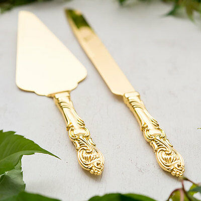 Personalized Classic Gold Romance Wedding Cake Serving Set - 6020