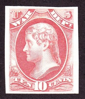 US O88P3 10c War Department Proof on India Paper