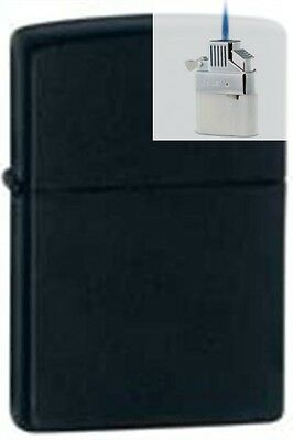 Zippo 218 black matte Lighter & Z-PLUS INSERT BUNDLE