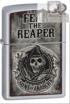 Zippo 28502 sons of anarchy fear Lighter with PIPE INSERT PL