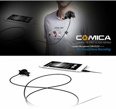 Omni Microphone Lavalier Lapel Clip-on Condenser MIC for Smartphone Iphone Ipads