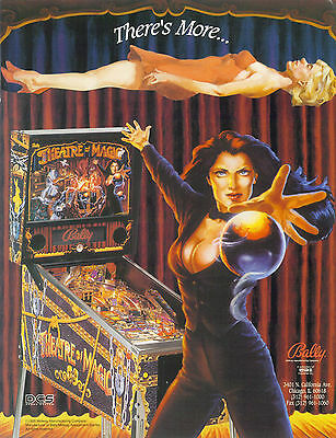 1995 Bally Midway Theatre Of Magic Pinball Flyer