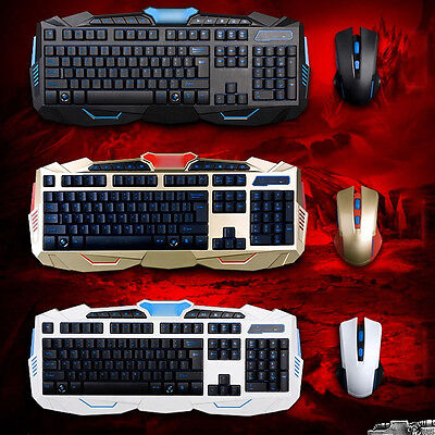 1 Set 2.4G Gaming Wireless Keyboard and Mouse Set For Computer Multimedia Gamer