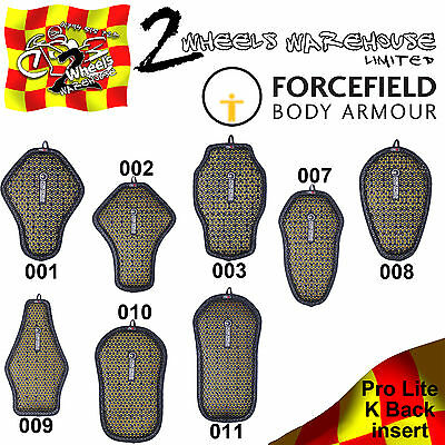 Forcefield Pro Lite K Back Protector Inserts Motor Cycle Bike Leather Jackets