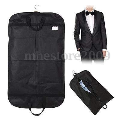 Black Suit Dress Coat Garment Storage Travel Carrier Bag Cover Hanger Protector