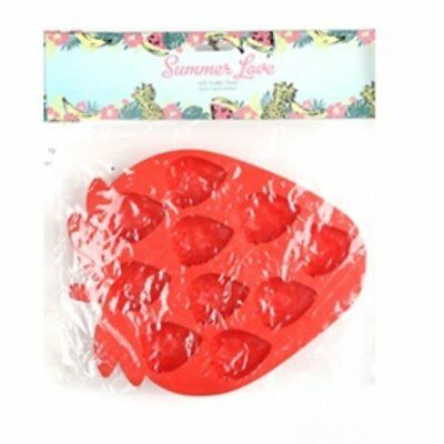 Silicone Plastic Strawberry Shaped Ice Cube Tray Mold Novelty Party Cubes Freeze