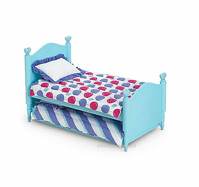 "American Girl BT BITTY TWIN TRUNDLE BED & BEDDING for 15"" Baby Dolls NEW"