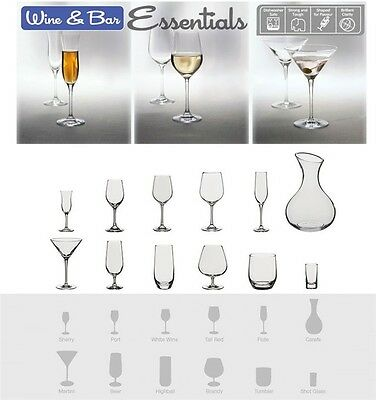 Dartington Crystal Bar Essentials WINE & BAR RANGE Drinking Glass Set Glassware