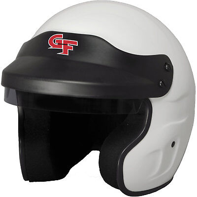 G-FORCE 3121LRGWH GF1 Open Face Helmet SA2015 Certified Large