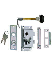 Boat RV  Door Rim Lock Set Turnbutton and Key Outward