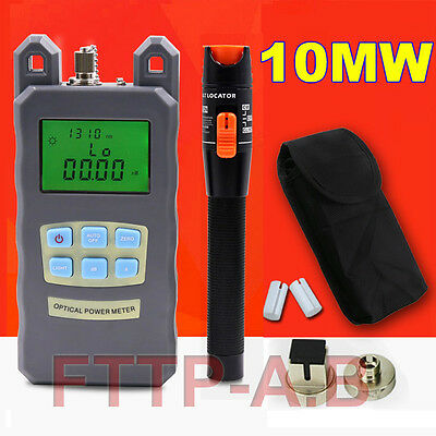 Fiber Optical Power Meter 10-12km 10Mw Visual Fault Locator Cable Tester FTTH