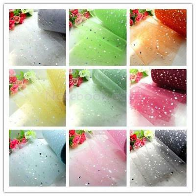 "6"" 25 Yards Glitter Tulle Rolls Wedding Gift Wrap Craft Bow Party Fashion Decors"