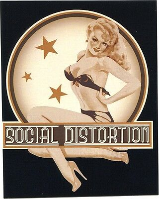 SOCIAL DISTORTION pin-up girl undressing STICKER *Free Shipping* s7005 mike ness