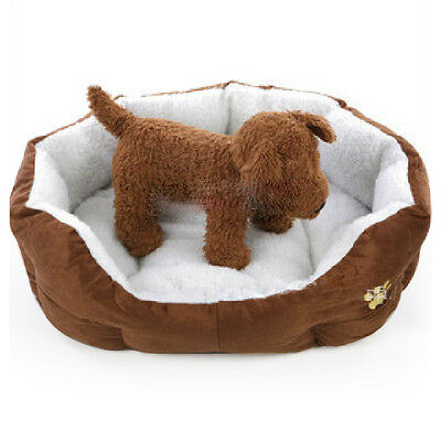 Soft Medium Fleece Lining Washable Dog Pet Warm Basket Bed with Mat Waterproof