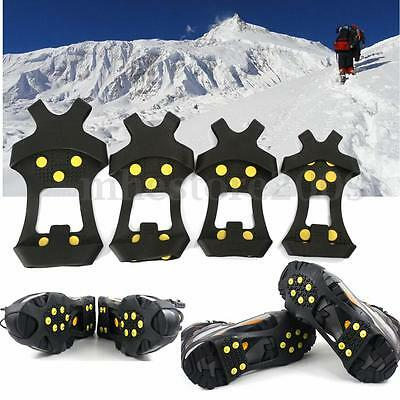 Anti Slip Shoe Boot Grips Ice Cleats Spikes Snow Gripper Non Slip Crampons S-XL
