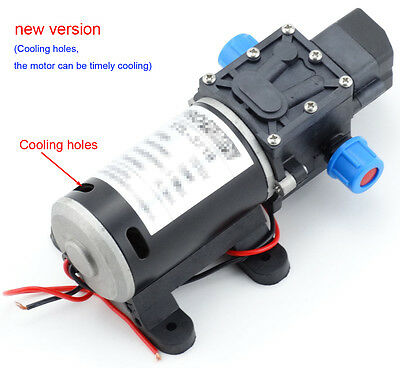 100W 12V 160Psi Water Pump High Pressure 8Lpm Self-Priming Caravan Camping Boat