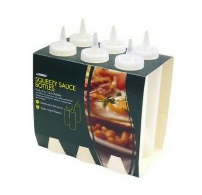 Sauce Bottles Squeezy Clear 12oz Pack of 6