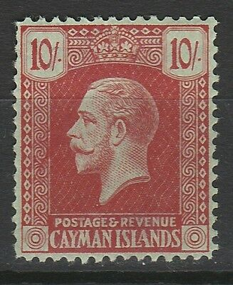 Cayman Islands 1921 Kgv 10/- Wmk Multi Crown Ca Top Value