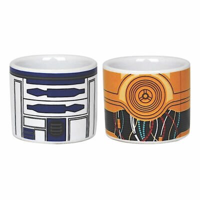 Set Of 2 R2D2 C3Po Ceramic Egg Cups Retro Gift Star Wars Official Droid Jedi