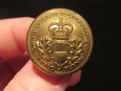 Queens Own Cameron Highlanders Canada Post WWII Tunic Brass Button 26MM