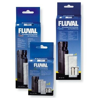 Fluval  2-plus Schaumstoffpatrone Feinfilter, 4er Pack