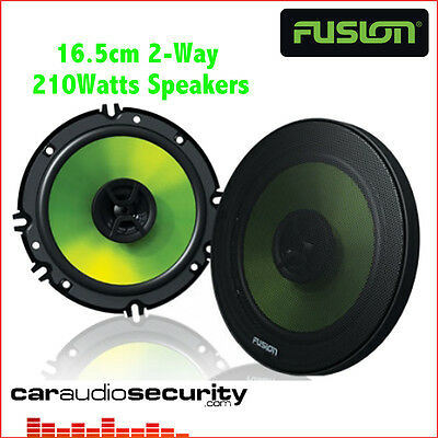 "Fusion EN-FR6021 - 16.5cm 6.5"" 2 Way 210W Car Speakers Door Speakers Full Range"