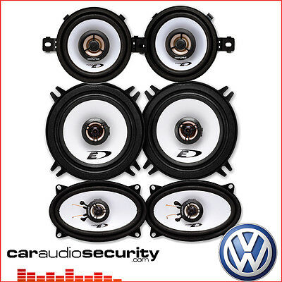 VW Golf Mk2 II 1983-1995 - Complete Coaxial Car Speakers Upgrade Kit