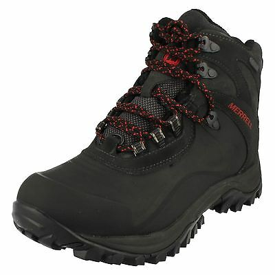 Mens Merrell Black Waterproof Walking Boot Style - Iceclaw Mid